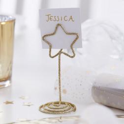 Platzkartenhalter Stern gold 6 Stück