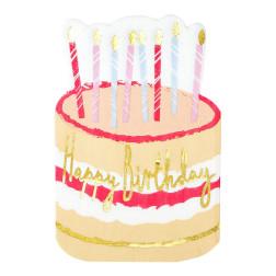 Servietten Happy Birthday Rose Cake 16 Stück