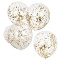 Luftballons micro Konfetti gold 5 Stück