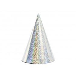 Party Hut silber 6 Stück