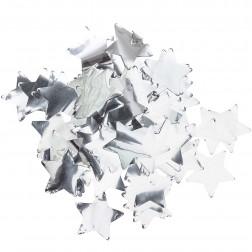 Konfetti Sterne silber 50g