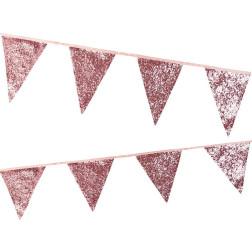 Flaggen Banner Glitter Pink 3m