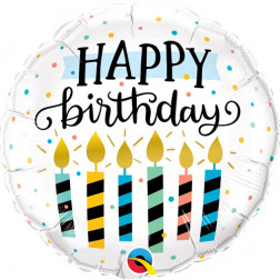 Folienballon Happy Birthday Kerze 46cm