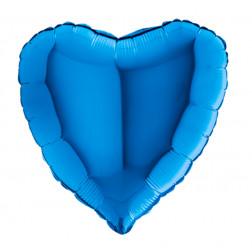 Jumbo Folienballon Herz blau 90cm