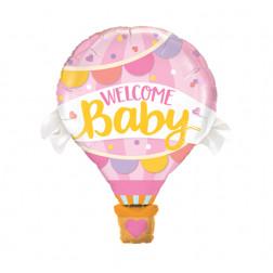 Folienballon Welcome Baby Girl 107cm