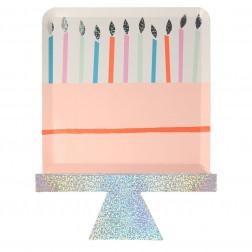 Birthday Cake Plates 8 Stück