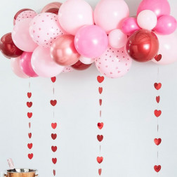 Balloon Arch Kit Roségold, Pink, Red