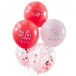 Luftballons Flirty Valentines 5 Stück