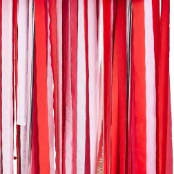 Backdrop Streamer Rose Gold, Pink, Red