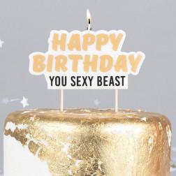 Kerze Happy Birthday You Sexy Beast
