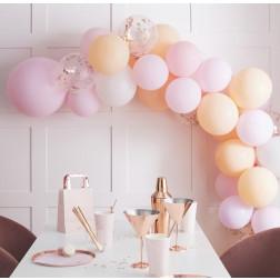 Balloon Arch Garland Peach, Pink