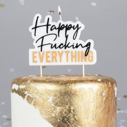 Kerze Happy Fucking Everything Birthday