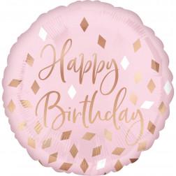 Folienballon Blush Birthday 43cm