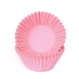 Chocolate Baking Cups Pastel Pink 100 Stück