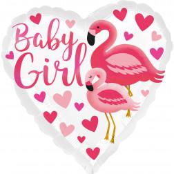 Folienballon Flamingo Baby Girl 43cm