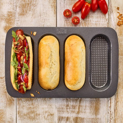 Hot Dog Brötchen Blech