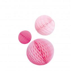 Wabenbälle Mix Pink 3 Stück