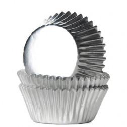 Mini Cupcake Backförmchen Silber 36 Stück