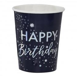 Pappbecher Stargazer Happy Birthday 8 Stück