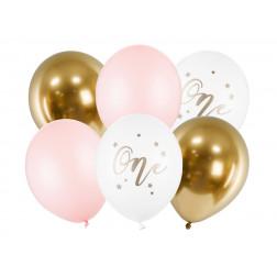 Luftballoons One Pastel Pale Pink 6 Stück