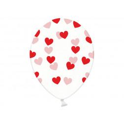 Luftballons Crystal Clear Herz rot 6 Stück