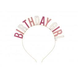 Haarreif Birthday Girl pink mix