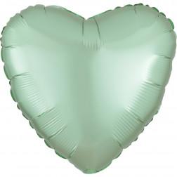 Folienballon Herz Satin Luxe Mint grün 43cm