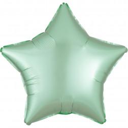 Folienballon Stern Satin Luxe Mint grün 43cm