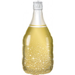 Folienballon Golden Bubbly Wine Bottle 99cm