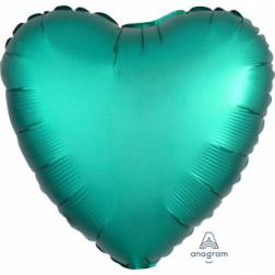 Folienballon Herz Satin Luxe Jade 43cm