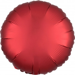 Folienballon rund Satin Luxe Sangria 43cm