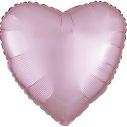 Folienballon Herz Satin Luxe Pastel Pink 43cm