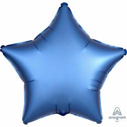 Folienballon Stern Satin Luxe Azure 43cm