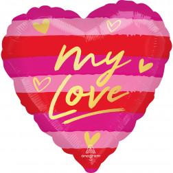 Folienballon My Love 43cn