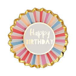 Happy Birthday Badge Rose
