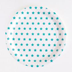 Pappteller Sterne blau 8 Stück