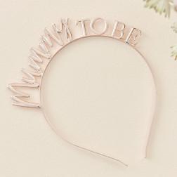 Rose Gold Mummy To Be Baby Shower Headband