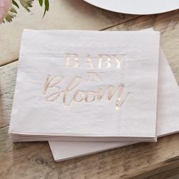Servietten Baby in Bloom Rosegold Blush 16 Stück