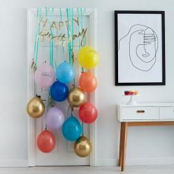 Happy Birthday Ballons Rainbow Set