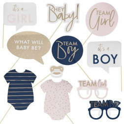 Gender Reveal Party Photo Booth Props