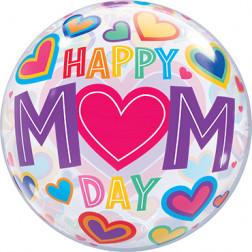 Bubble Ballon Happy Mom Day 50cm