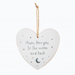 Schild Herz Mum Love You to the Moon and Back 14cm