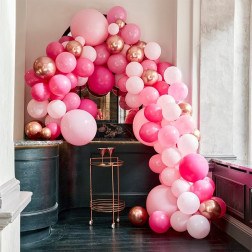 Luxe Pink Rosegold Balloon Arch Kit