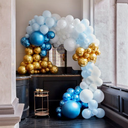 Luxe Blue Gold Balloon Arch Kit