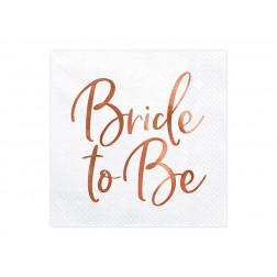 Servietten Bride to be rosegold 20 Stück