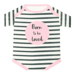 Servietten Born To Be Loved Pink Baby Grow Shaped 16 Stück