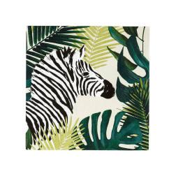 Cocktail Servietten Tropical Palm Zebra 20 Stück