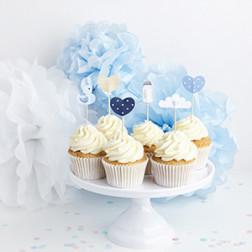 Cake Picks Blue 6 Stück