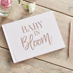Gäste Buch Rosegold Blush Baby Shower