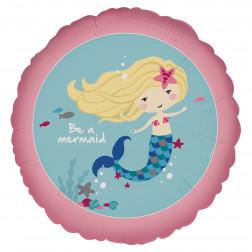 Folienballon Be a Mermaid 43 cm